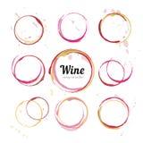Κύκλοι λεκέδων κρασιού Στοκ Φωτογραφία