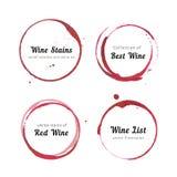 Κύκλοι λεκέδων κρασιού Στοκ Εικόνα