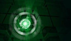 Κύκλοι δικτύων και πυράκτωσης με τον κύβο γυαλιού όπως Στοκ εικόνες με δικαίωμα ελεύθερης χρήσης
