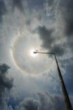 Κύκλοι κύκλων θαύματος γύρω από τον ήλιο το απόγευμα στην Ταϊλάνδη Στοκ Φωτογραφία