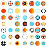κύκλοι που χρωματίζοντα&io στοιχεία σχεδίου που τί&th Στοκ Φωτογραφίες