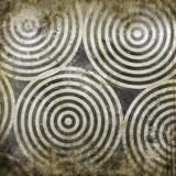 Κύκλοι Grunge στο grunge Στοκ Εικόνες