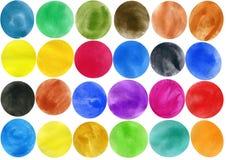 Κύκλοι Watercolor Στοκ φωτογραφία με δικαίωμα ελεύθερης χρήσης