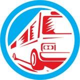 Κύκλος λεωφορείων οχημάτων πυκνών δρομολογίων λεωφορείων τουριστών αναδρομικός Στοκ Φωτογραφίες