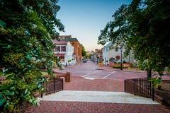 Κύκλος διάβασης πεζών και κράτους, σε Annapolis, Μέρυλαντ Στοκ Εικόνα