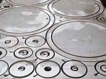Κύκλος διακοπής λέιζερ ανοξείδωτου φουτουριστικός, διακοπή μορφής στοκ εικόνα
