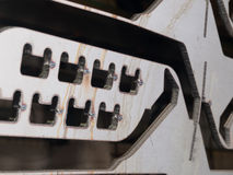 Κύκλος διακοπής λέιζερ ανοξείδωτου φουτουριστικός, διακοπή μορφής στοκ φωτογραφία με δικαίωμα ελεύθερης χρήσης