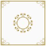 Κύκλος κίτρινος και χρυσός ένας αναδρομικός η κάρτα Στοκ Εικόνες