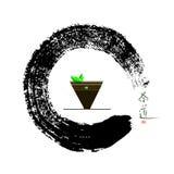 Κύκλος και τσάι της Zen Στοκ Εικόνες