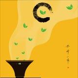 Κύκλος και τσάι της Zen Στοκ Εικόνα