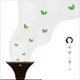 Κύκλος και τσάι της Zen Στοκ Φωτογραφίες