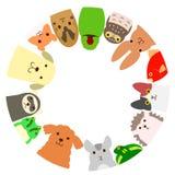 Κύκλος κατοικίδιων ζώων ελεύθερη απεικόνιση δικαιώματος