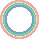Κύκλος κρητιδογραφιών ουράνιων τόξων - διανυσματικό στοιχείο Στοκ φωτογραφία με δικαίωμα ελεύθερης χρήσης