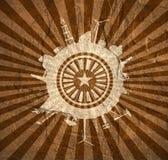 Κύκλος με τις σχετικές σκιαγραφίες βιομηχανίας Στοκ Εικόνα