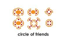 Κύκλος των φίλων στη συνεδρίαση Στοκ Εικόνες