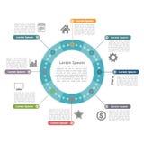 Κύκλος Infographics Στοκ Εικόνα