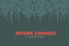 κύκλωμα ανασκόπησης ηλεκτρονικό Spu Σχέδιο γραμμών κυκλωμάτων Μελλοντική έννοια Στοκ Εικόνες