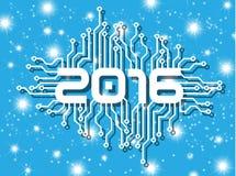 κύκλωμα καλής χρονιάς του 2016 με τα αστέρια Στοκ φωτογραφία με δικαίωμα ελεύθερης χρήσης