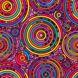 Κύκλων άνευ ραφής σχέδιο χρώματος γραμμών τυχαίο Στοκ φωτογραφία με δικαίωμα ελεύθερης χρήσης