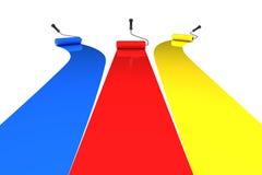 κύλινδροι χρωμάτων Στοκ φωτογραφία με δικαίωμα ελεύθερης χρήσης