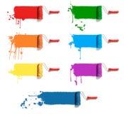 κύλινδροι χρώματος στοκ εικόνες