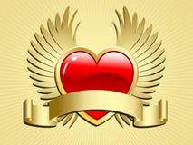 κύλινδρος καρδιών φτερωτ απεικόνιση αποθεμάτων