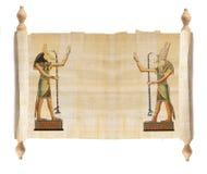 Κύλινδρος με τον αιγυπτιακό πάπυρο Στοκ φωτογραφίες με δικαίωμα ελεύθερης χρήσης