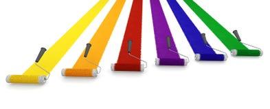 κύλινδροι χρωμάτων Στοκ Εικόνες