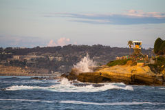 Κύματα ακτών Καλιφόρνιας στοκ φωτογραφία