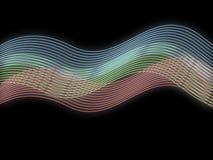 κύματα ανασκόπησης rbg ελεύθερη απεικόνιση δικαιώματος