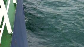 Κύματα από το σκάφος στον ωκεανό της Ανταρκτικής απόθεμα βίντεο
