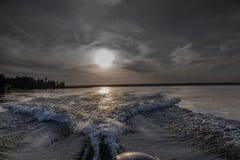 Κύματα βαρκών Στοκ Εικόνα