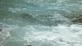 Κύματα & βράχοι Στοκ Εικόνες