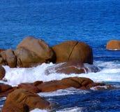κύματα βράχων Στοκ Εικόνα
