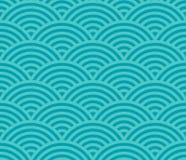 Κύματα γεωμετρικό πρότυπο Άνευ ραφής ανασκόπηση διανυσματική απεικόνιση