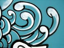 κύματα γκράφιτι τέχνης ελεύθερη απεικόνιση δικαιώματος