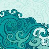 Κύματα θάλασσας καθορισμένα διανυσματική απεικόνιση