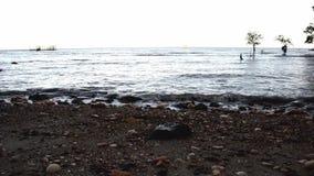 Κύματα θάλασσας μήκους σε πόδηα απόθεμα βίντεο