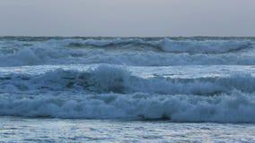 Κύματα θύελλας ηλιοβασιλέματος απόθεμα βίντεο