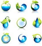 Κύματα και πτώσεις νερού διανυσματική απεικόνιση