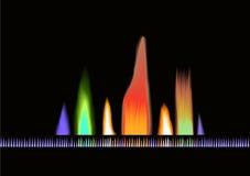 κύματα μουσικής χρώματος απεικόνιση αποθεμάτων