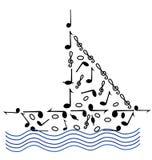κύματα μουσικής διανυσματική απεικόνιση