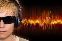 κύματα μουσικής Στοκ Εικόνες