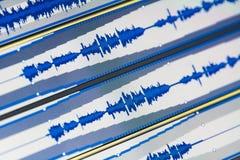 κύματα μουσικής Στοκ εικόνες με δικαίωμα ελεύθερης χρήσης