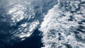 Κύματα νερού στη θάλασσα απόθεμα βίντεο