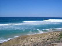 κύματα νησιών stradbroke στοκ φωτογραφίες