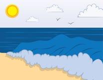 κύματα παραλιών διανυσματική απεικόνιση