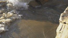 Κύματα παραλιών 4K απόθεμα βίντεο
