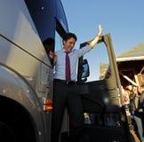 Κύματα Σάσσεξ του Justin Trudeau στοκ φωτογραφίες
