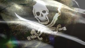 Κύματα σημαιών πειρατών τρισδιάστατα διανυσματική απεικόνιση